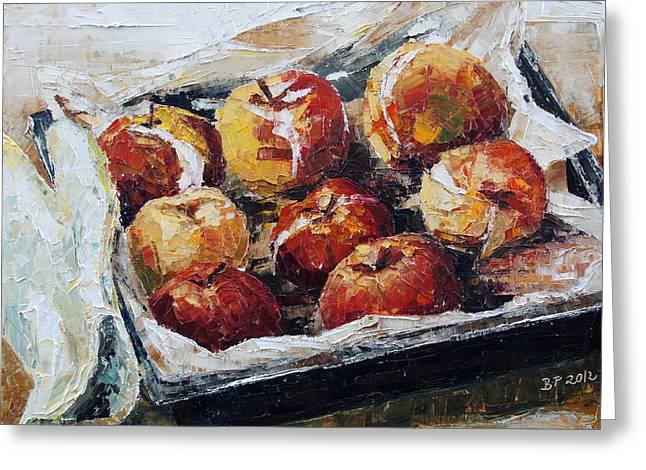 Lebensmittel Greeting Cards - Baked Apples Greeting Card by Barbara Pommerenke