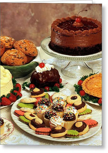 Baked Desserts And Cakes Greeting Card by Peggy Greb/us Department Of Agriculture