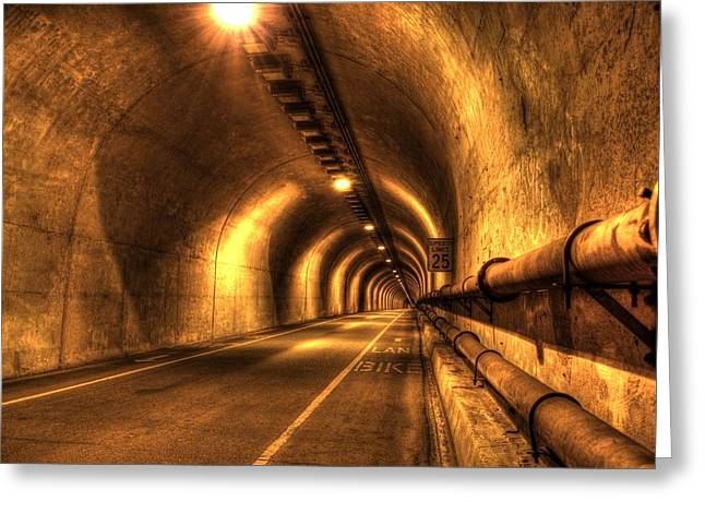 Sausalito Greeting Cards - Baker Barry Tunnel Greeting Card by Mike Ronnebeck