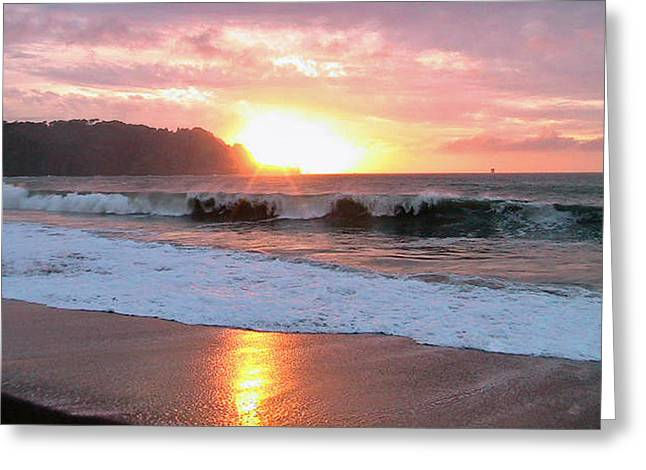 Pacific Ocean Prints Greeting Cards - Baker Beach Sunset III Greeting Card by Dottie Kinn