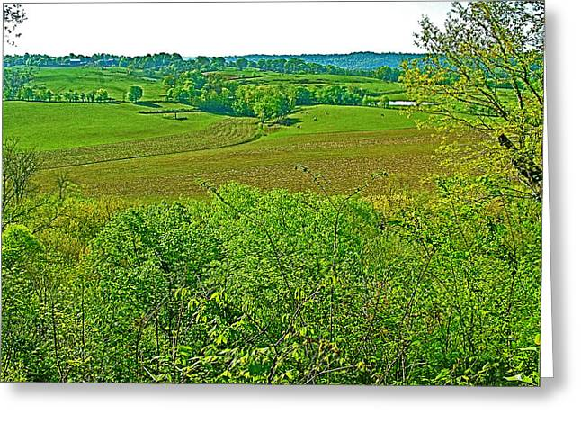 Natchez Trace Parkway Digital Greeting Cards - Baker Bluff Overlook on MIle 405 of Natchez Trace Parkway-Tennessee Greeting Card by Ruth Hager