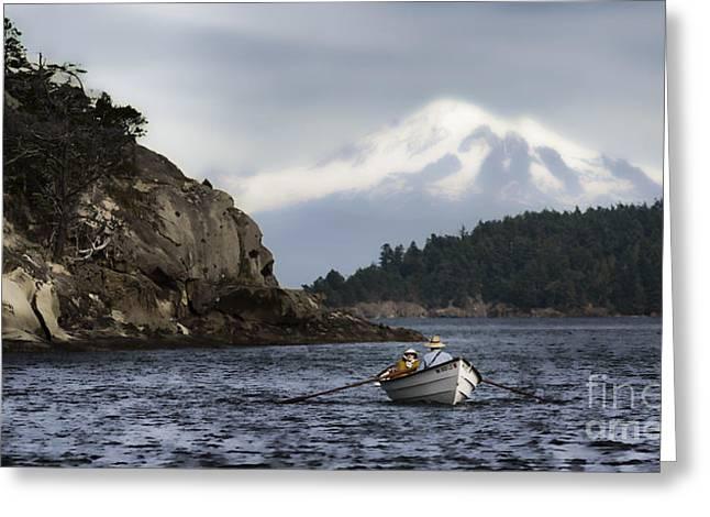 Baker Island Greeting Cards - Baker Boat Greeting Card by Richard Mason