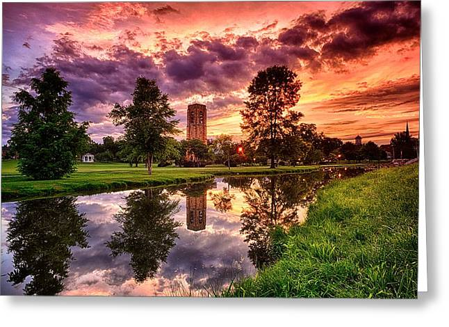 Recently Sold -  - Beautiful Creek Greeting Cards - Baker Park Sunrise Greeting Card by Andrew Murdock