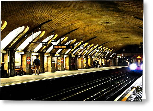 Baker Greeting Cards - Baker Street London Underground Greeting Card by Mark Rogan