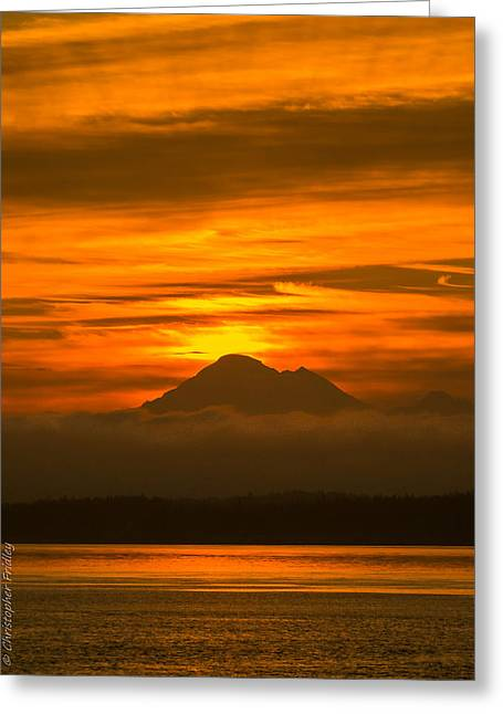 Christopher Fridley Greeting Cards - Baker Sunrise Greeting Card by Christopher Fridley