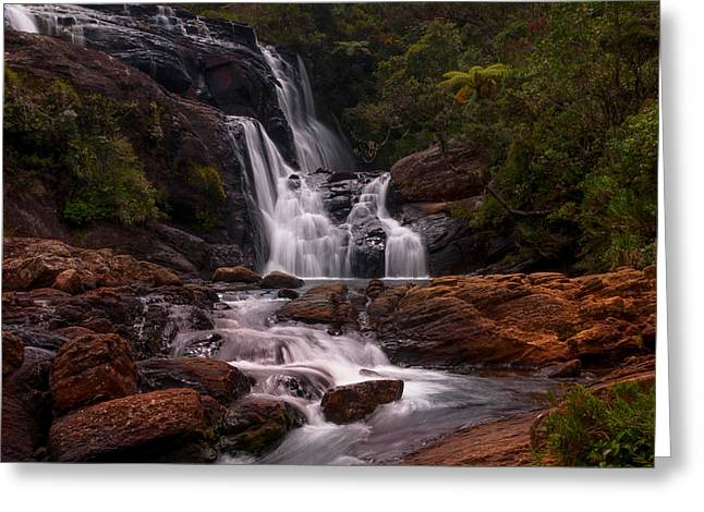 Unique View Greeting Cards - Bakers Fall II. Horton Plains National Park. Sri Lanka Greeting Card by Jenny Rainbow