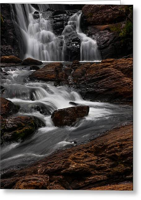 Unique View Greeting Cards - Bakers Fall III. Horton Plains National Park. Sri Lanka Greeting Card by Jenny Rainbow