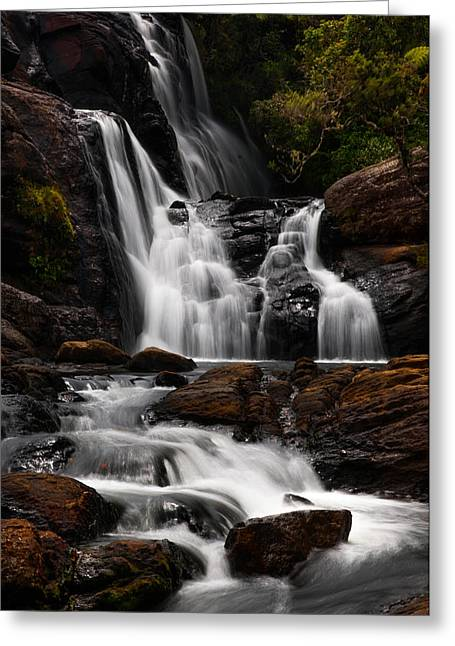 Unique View Greeting Cards - Bakers Fall IV. Horton Plains National Park. Sri Lanka Greeting Card by Jenny Rainbow