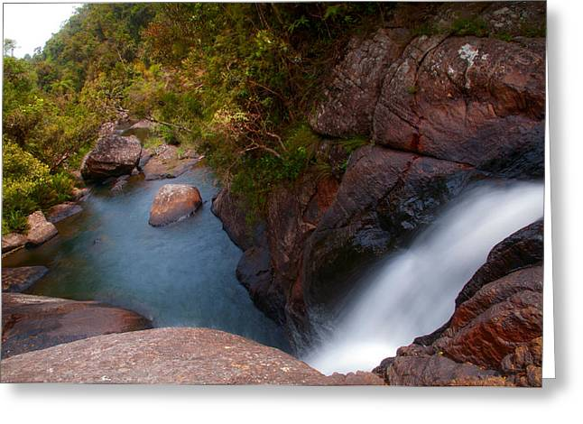 Unique View Greeting Cards - Bakers Fall VII. Horton Plains National Park. Sri Lanka Greeting Card by Jenny Rainbow