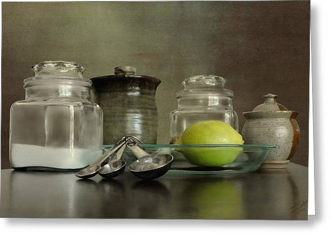 Flour Digital Art Greeting Cards - Bakers Kitchen Greeting Card by Matthew Schwartz
