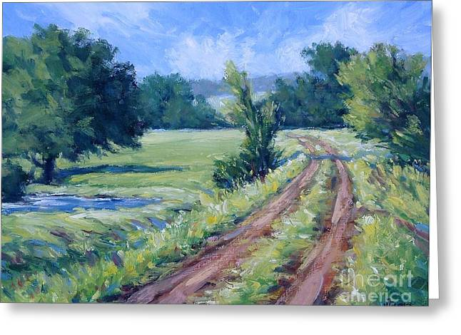 Bakers Ranch Road Greeting Card by Vickie Fears