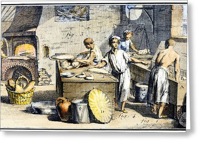 18th Century Greeting Cards - BAKERY, 18th CENTURY Greeting Card by Granger