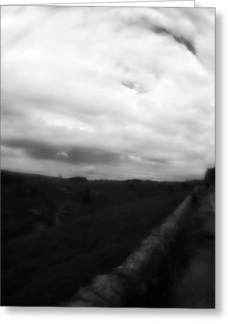 Run Down Mixed Media Greeting Cards - Bakewell Country Dramatic Sky - In Bakewell Town Peak District - England Greeting Card by Michael Braham