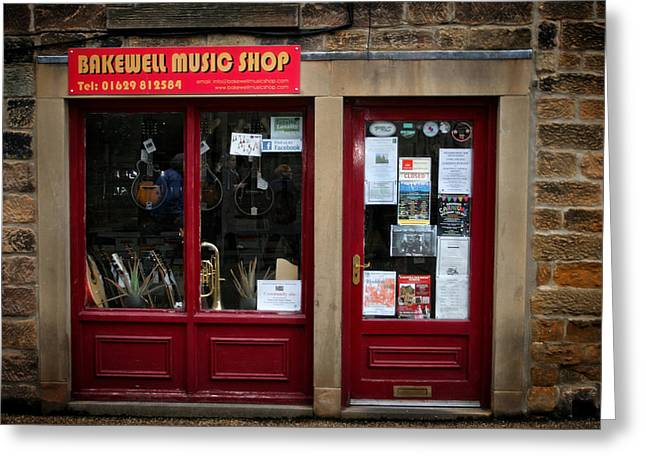 History Derbyshire Greeting Cards - Bakewell Music Shop In England Greeting Card by Michael Braham
