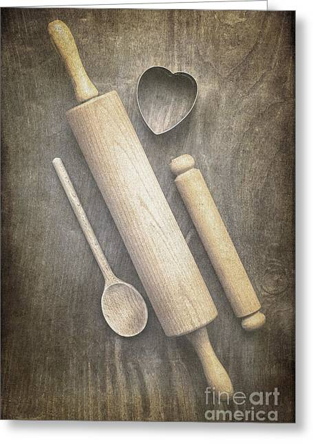 Wood Cutters Greeting Cards - Baking with Mom Greeting Card by Jan Bickerton