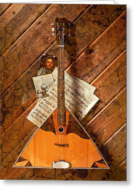 Stringed Instrument Greeting Cards - Balalaika Greeting Card by Garry Gay