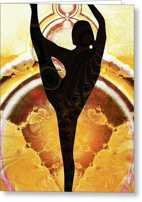 Training Mixed Media Greeting Cards - Balance Greeting Card by Anastasiya Malakhova
