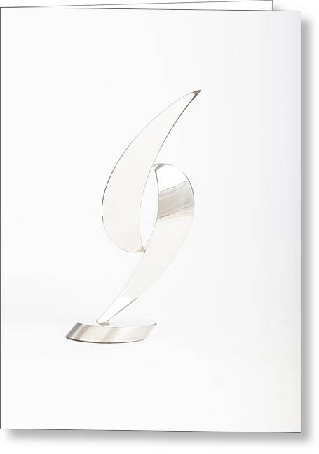 Silver Sculptures Greeting Cards - Balance Greeting Card by Jon Koehler