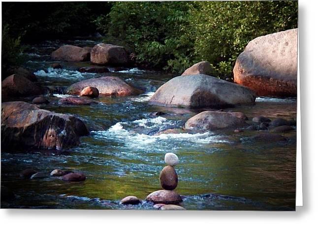 Zen Rock Stacking Greeting Cards - Balance Greeting Card by Joy Nichols