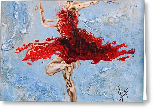 Modern Dance Greeting Cards - Balance Greeting Card by Karina Llergo Salto