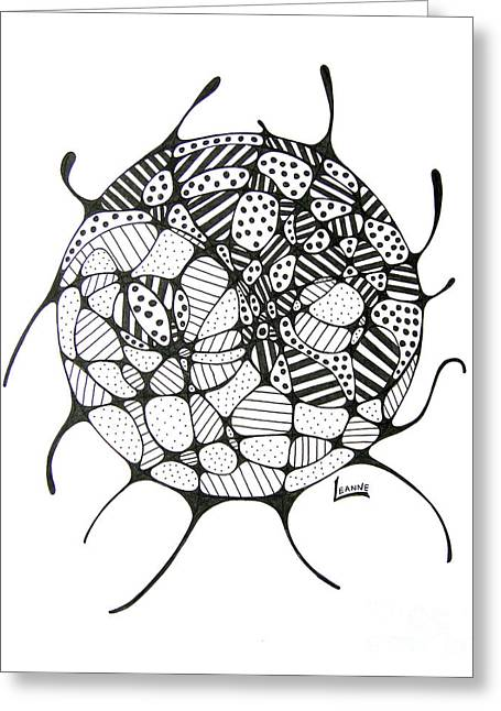 Chi Drawings Greeting Cards - Balance of light and dark Greeting Card by Leanne Karlstrom