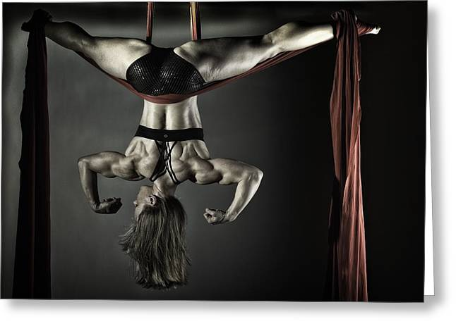 Body Builder Greeting Cards - Balance of Power 2012 series #10 Suspense 2 Greeting Card by Monte Arnold