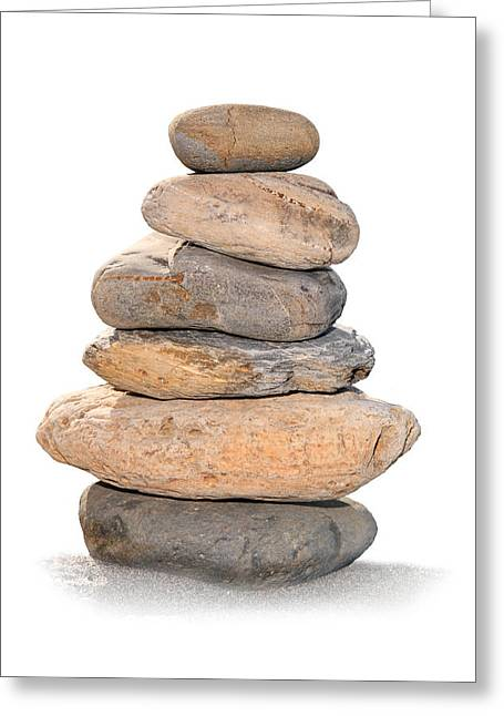 Rock Pile Greeting Cards - Balance Greeting Card by Paul Cowan