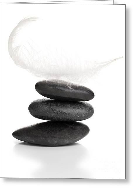 Calm Sculptures Greeting Cards - Balance Greeting Card by Shawn Hempel