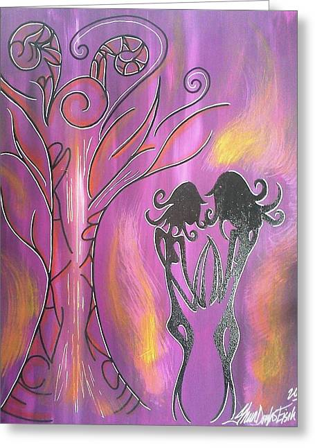 Recently Sold -  - Purple Abstract Greeting Cards - Balance Greeting Card by Sheen Douglas Eisele