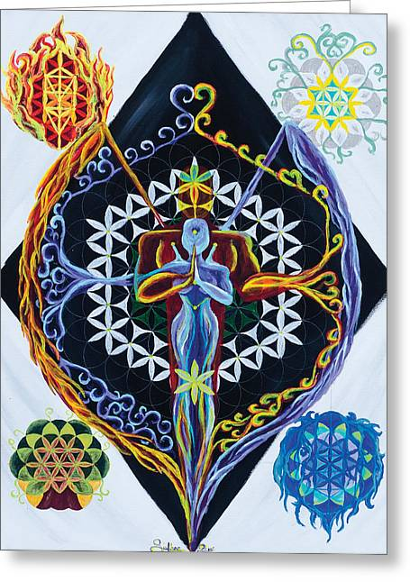 Element Of Thought Greeting Cards - Balance Greeting Card by Siobhan Shier