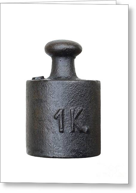 Old Objects Greeting Cards - Balance Weight - One Kilogram Greeting Card by Michal Boubin