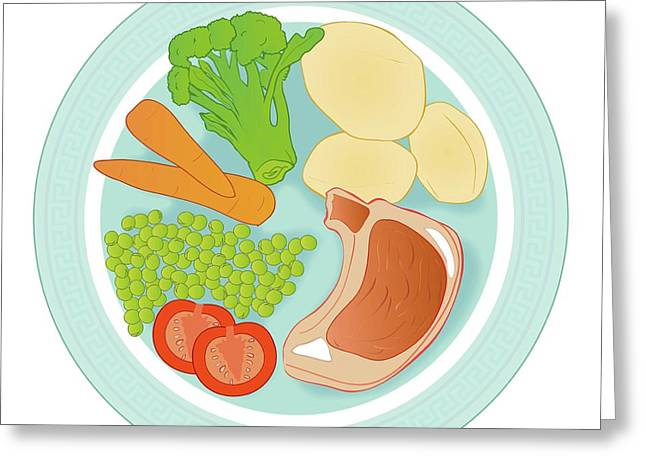 Balanced Meal Greeting Card by Jeanette Engqvist