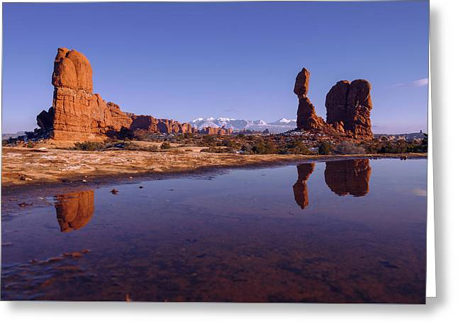 Balanced Reflection Greeting Card by Chad Dutson