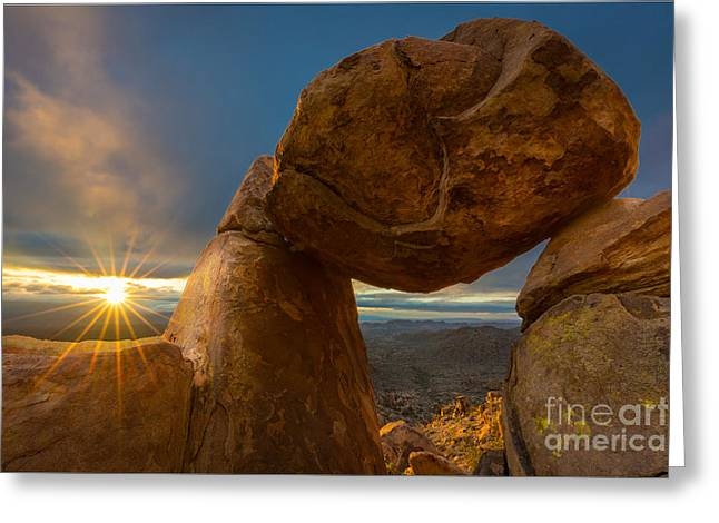 Grapevine Photographs Greeting Cards - Balanced Rock Greeting Card by Inge Johnsson