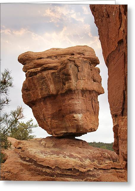 Balance Greeting Cards - Balanced Rock Greeting Card by Mike McGlothlen