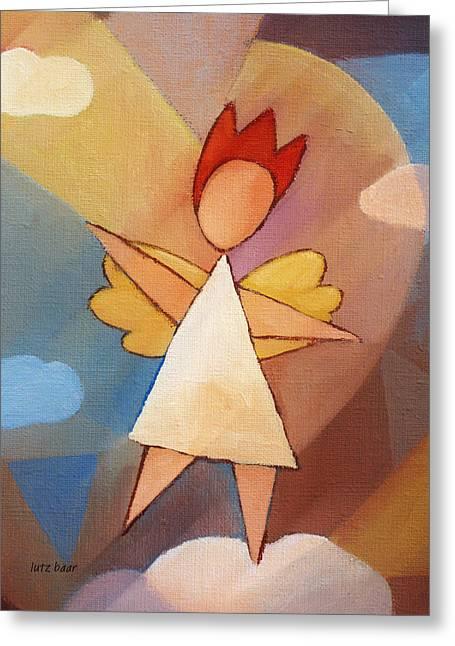 Angel Art Greeting Cards - Balancing Angel Greeting Card by Lutz Baar