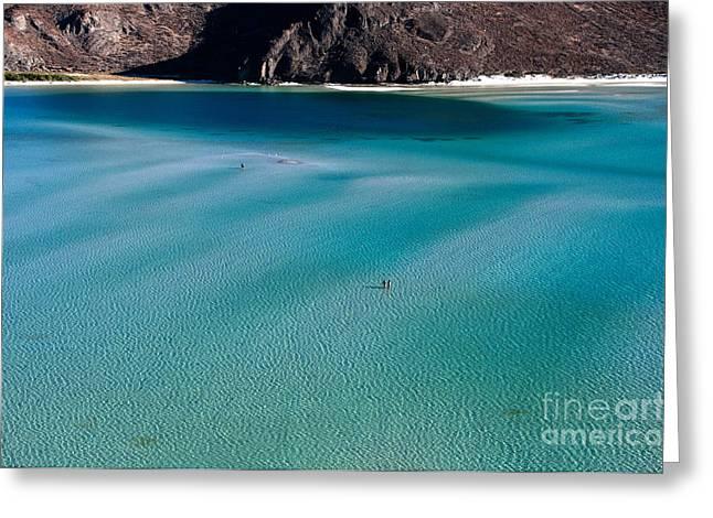Ocean Landscape Greeting Cards - Balandra Bay, Mexico Greeting Card by Mark Newman