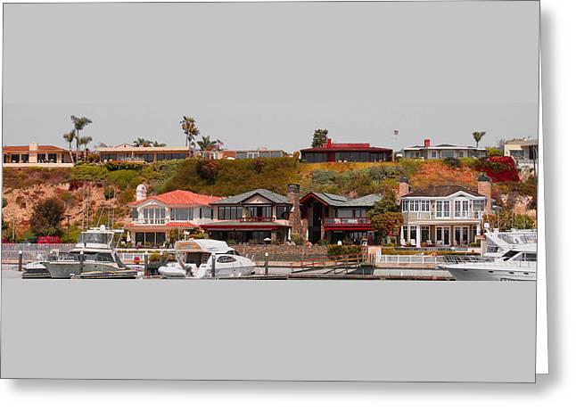 Sailboat Art Greeting Cards - Balboa Island Panorama Greeting Card by Ben and Raisa Gertsberg