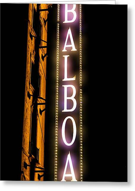 Historic Ship Greeting Cards - Balboa Theater Greeting Card by Stephen Stookey