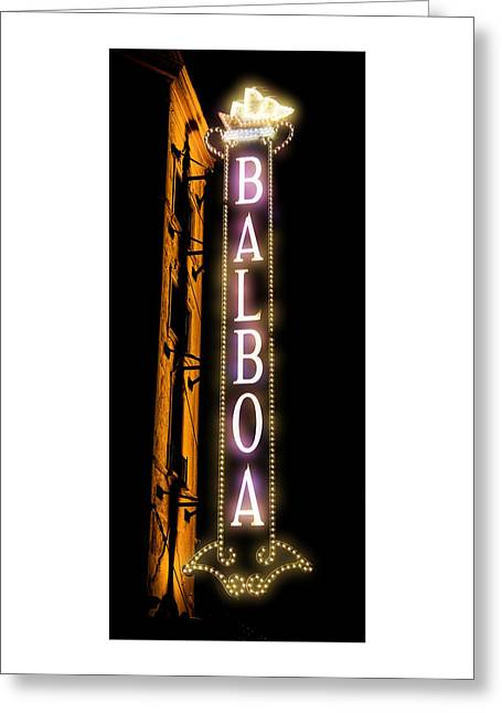 Gas Lamp Photographs Greeting Cards - Balboa Theater Greeting Card by Stephen Stookey