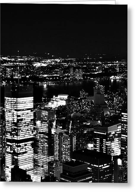 Amazing Pyrography Greeting Cards - Balck and White New York Greeting Card by Albert Chernogorov
