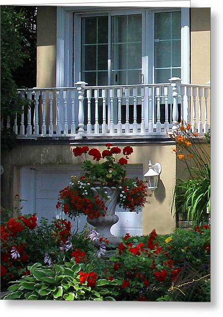 Residential Structure Greeting Cards - Balcony 3 Greeting Card by Kume Bryant