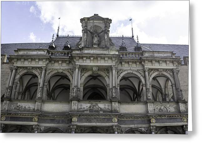 Balcony Of Loggia City Hall Cologne Germany Greeting Card by Teresa Mucha