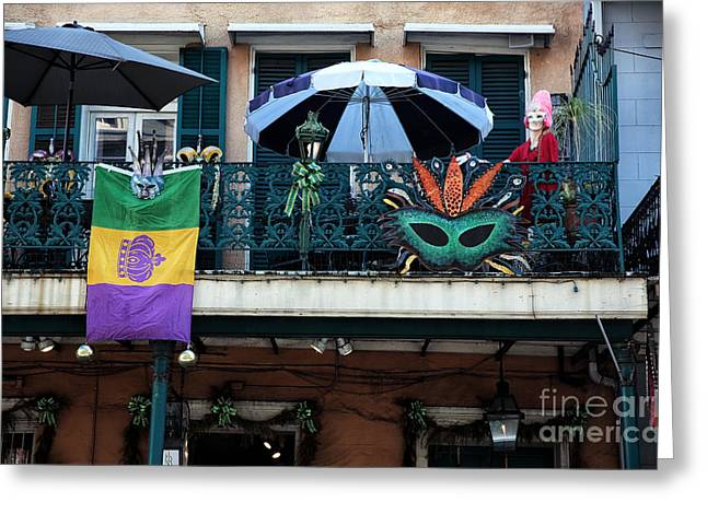 Celebration Art Print Greeting Cards - Balcony Party Greeting Card by John Rizzuto
