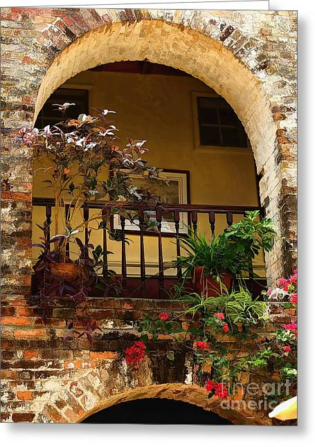Nature And Landscape Photography Greeting Cards - Balcony St Lucia Greeting Card by Tom Prendergast
