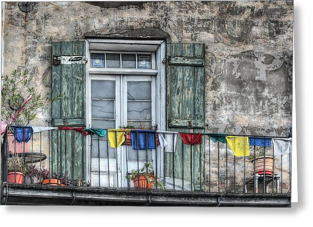 French Quarter Doors Greeting Cards - Balcony View Greeting Card by Brenda Bryant