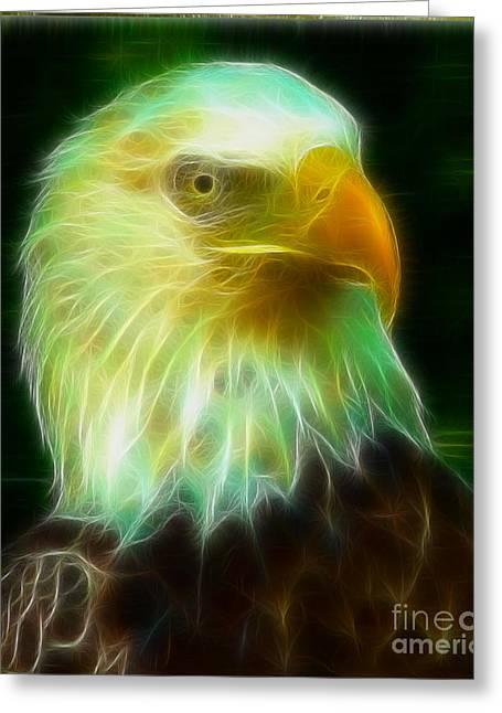 Gary Gingrich Digital Art Greeting Cards - Bald Eagle 54 Fractal Greeting Card by Gary Gingrich Galleries