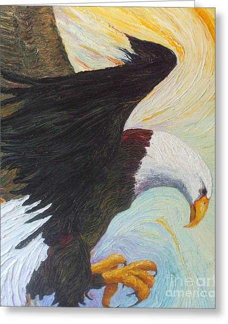 Paris Wyatt Llanso Greeting Cards - Bald Eagle - A National Treasure Greeting Card by Paris Wyatt Llanso