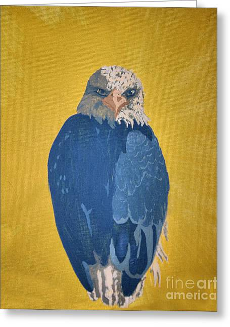 Eagles Pastels Greeting Cards - Bald Eagle Greeting Card by Ana Bar
