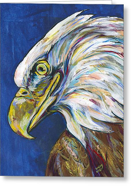 Love The Animal Greeting Cards - Bald Eagle Greeting Card by Lovejoy Creations